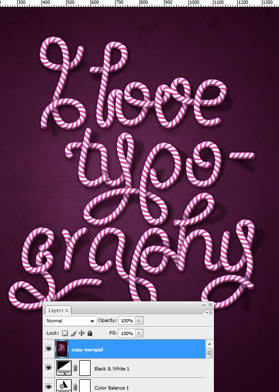 33 designioustimes candy cane type tutorial How to Create Candy Cane Typography with Photoshop and Illustrator