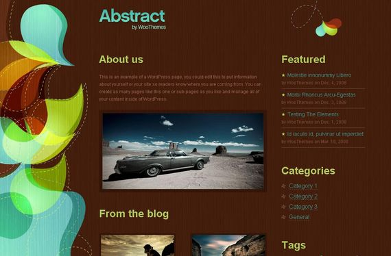 Abstract Wordpress Theme Showcase of Beautiful Free and Premium Wordpress Themes