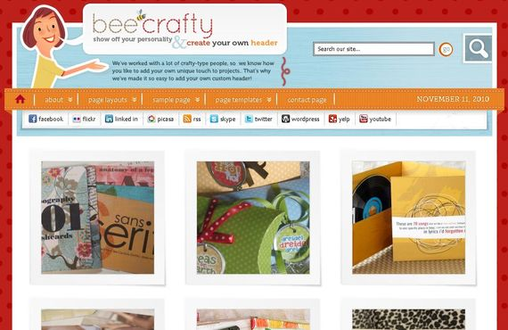 Bee Crafty Wordpress Theme Showcase of Beautiful Free and Premium Wordpress Themes