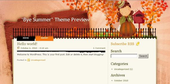 Bye Summer Wordpress Theme Showcase of Beautiful Free and Premium Wordpress Themes