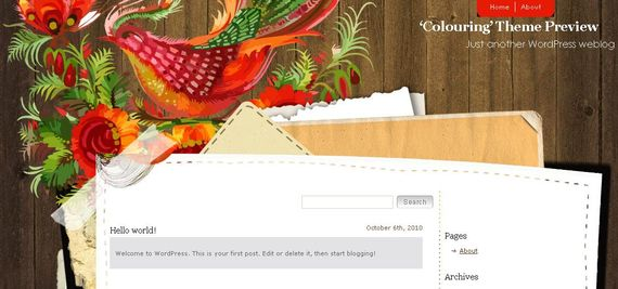 Colouring Wordpress Theme Showcase of Beautiful Free and Premium Wordpress Themes