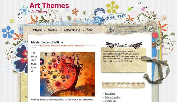 Craftwork Wordpress Theme Showcase of Beautiful Free and Premium Wordpress Themes