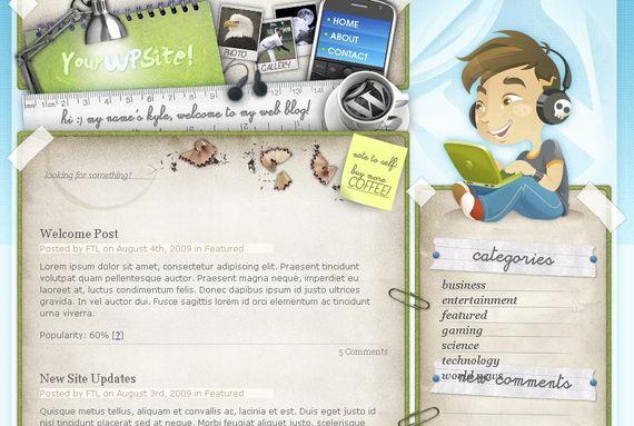 Desk Space Wordpress Theme Showcase of Beautiful Free and Premium Wordpress Themes
