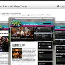 Tribal Music Wordpress Theme