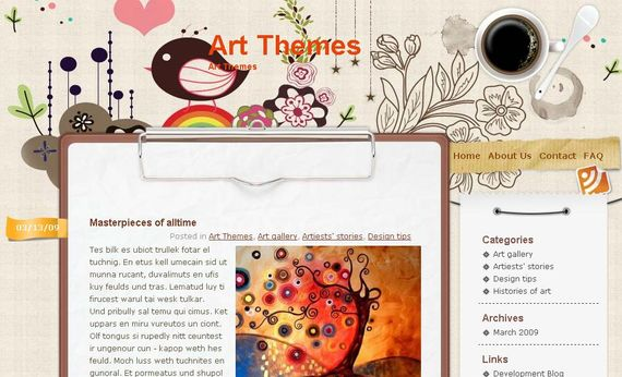 Vector Flower Wordpress Theme Showcase of Beautiful Free and Premium Wordpress Themes