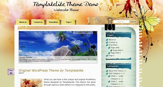 Watercolor Wordpress Theme Showcase of Beautiful Free and Premium Wordpress Themes