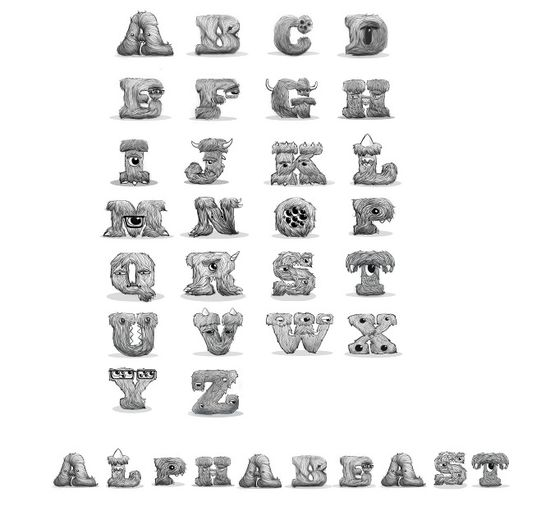 alphabeast Showcase of Amazing Typography