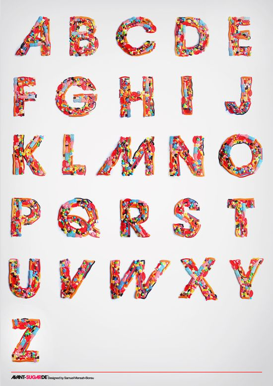 candy typography Showcase of Amazing Typography