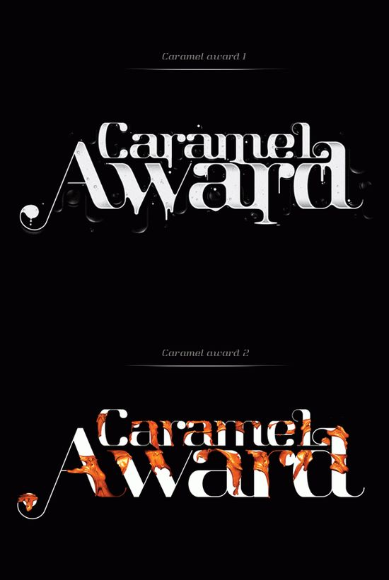 caramel typography Showcase of Amazing Typography