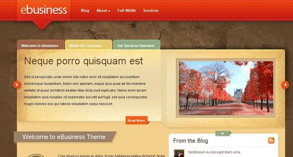eBusiness Wordpress Theme Showcase of Beautiful Free and Premium Wordpress Themes