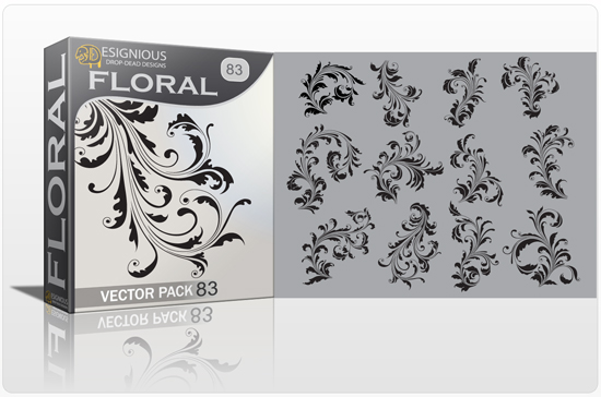 floral 83 preview 1 Beautiful New Floral Vector Packs and T shirt Designs from Designious.com