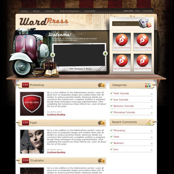 vintage wordpress theme copy Showcase of Beautiful Free and Premium Wordpress Themes