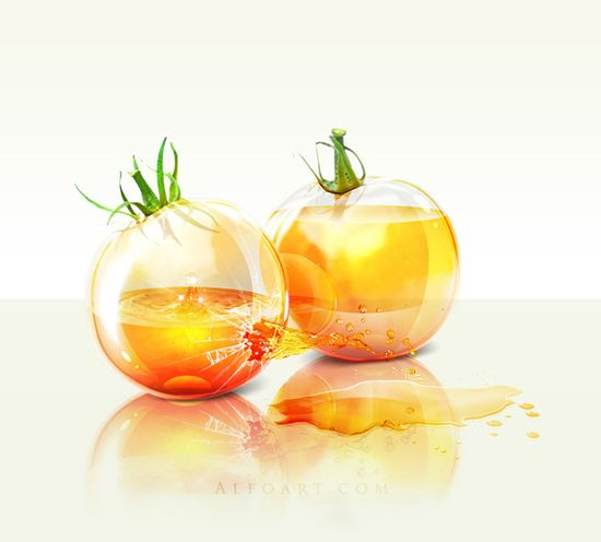 yellow tomatoes photoshop tutorial
