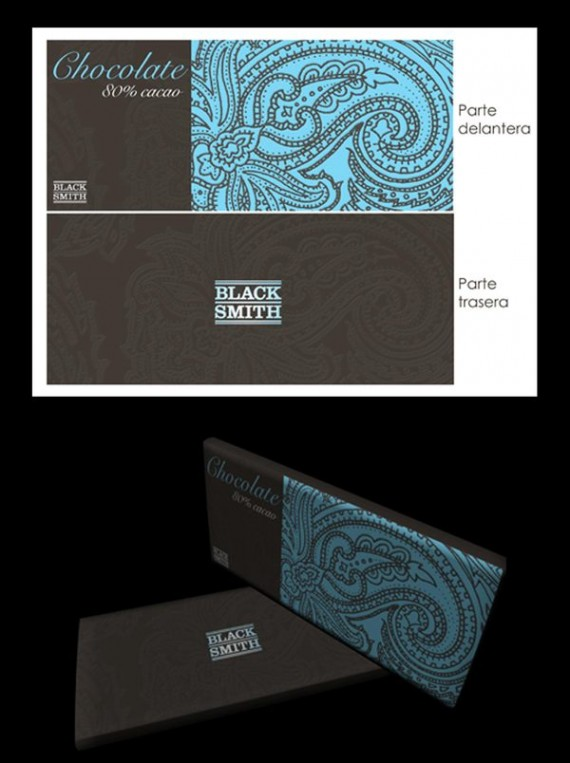 Black Smith Chocolate Package Design 570x763 50+ Creative Chocolate Package Designs