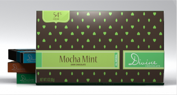 Divine Chocolate Packaging Design 570x306 50+ Creative Chocolate Package Designs
