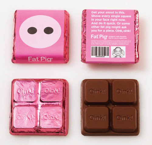Fat Pig Chocolate Package Design 2 50+ Creative Chocolate Package Designs