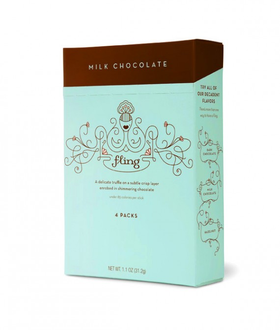 Fling Chocolate Package Design 2 570x670 50+ Creative Chocolate Package Designs