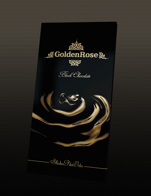 Golden Rose Chocolate Package Design 50+ Creative Chocolate Package Designs
