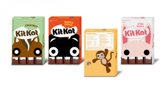 Kit Kat Packaging Design 570x294 50+ Creative Chocolate Package Designs