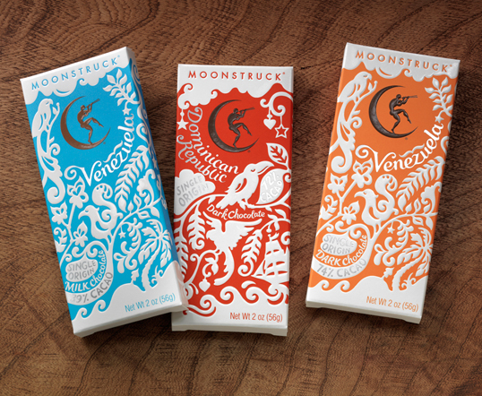 Moonstruck Chocolate Co. Package Design 50+ Creative Chocolate Package Designs