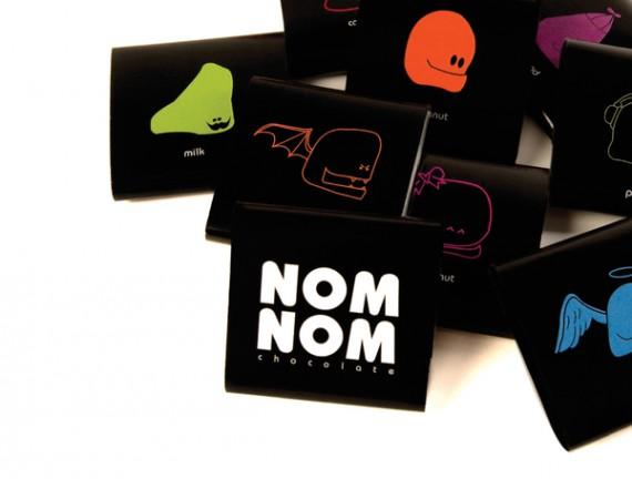 Nom Nom Chocolate Package Design 2 570x432 50+ Creative Chocolate Package Designs