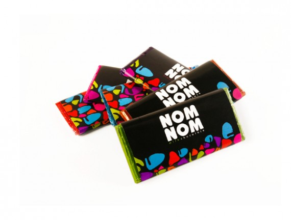 Nom Nom Chocolate Package Design 3 570x432 50+ Creative Chocolate Package Designs