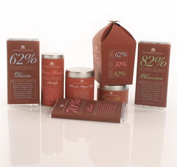Scharffen Berger Chocolate Package Design 570x536 50+ Creative Chocolate Package Designs