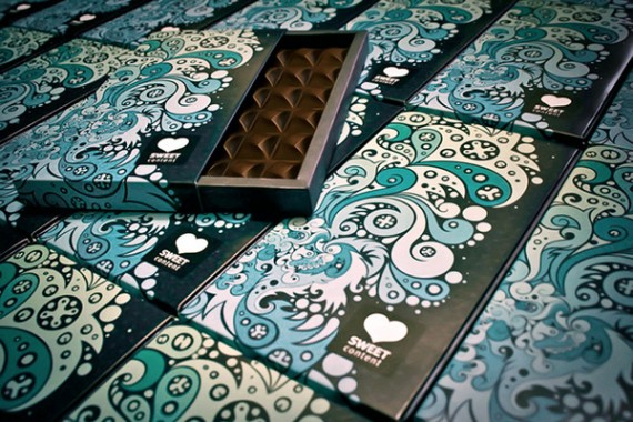 Sweet Content Chocolate Package Design 570x380 50+ Creative Chocolate Package Designs