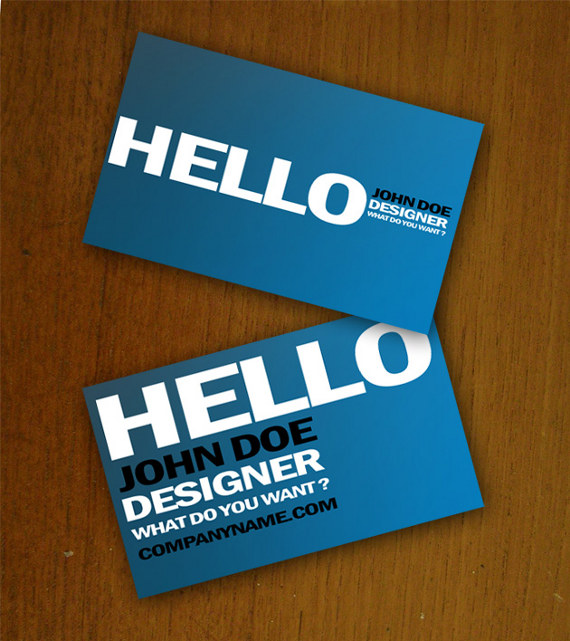 blue business card template 15+ Two Sided Business Card Templates
