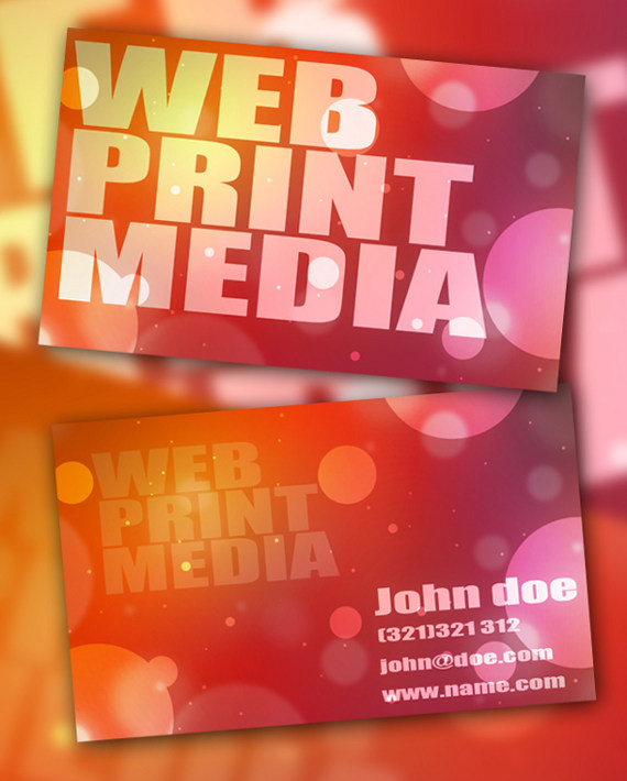 bokeh business card 15+ Two Sided Business Card Templates