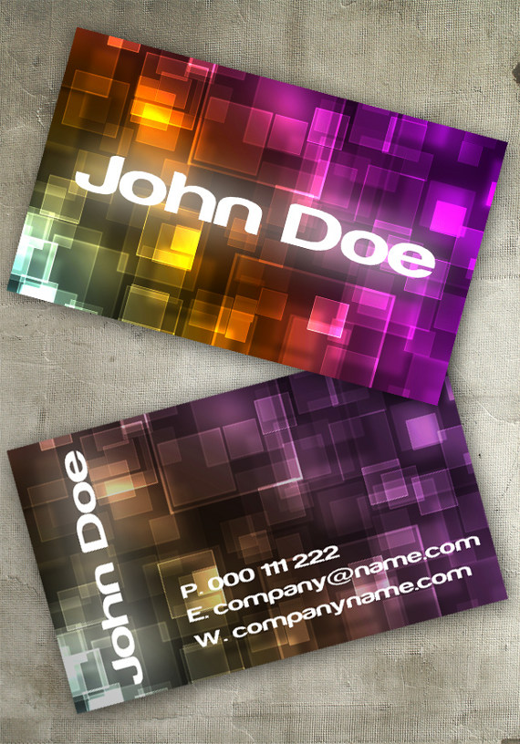 bokeh business card2 15+ Two Sided Business Card Templates