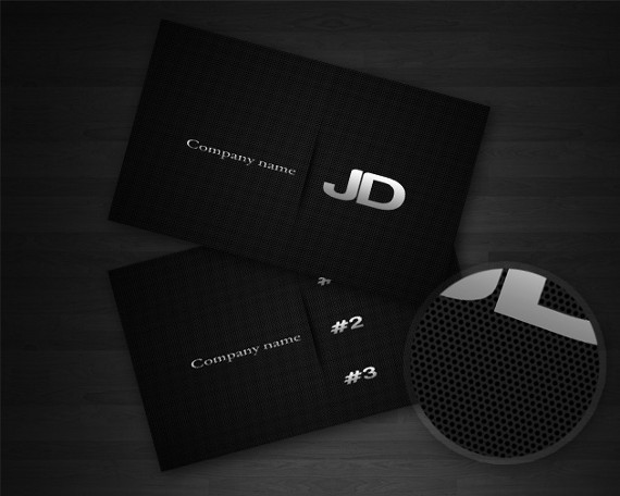 carbon business card 15+ Two Sided Business Card Templates