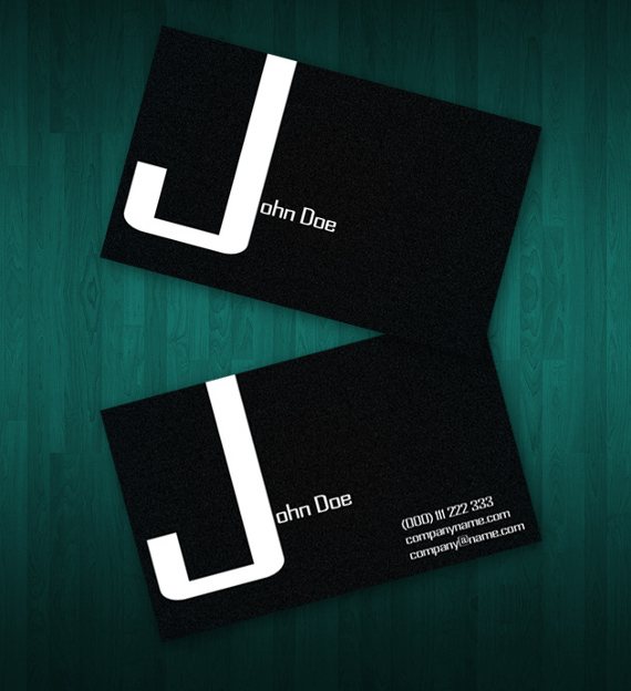 dark business card 15+ Two Sided Business Card Templates