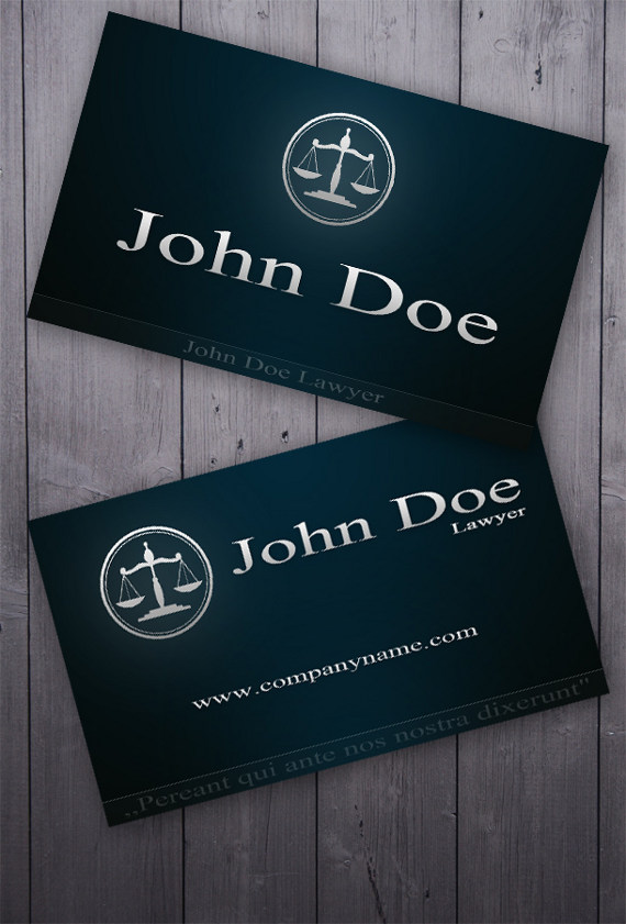 lawyer business card 15+ Two Sided Business Card Templates
