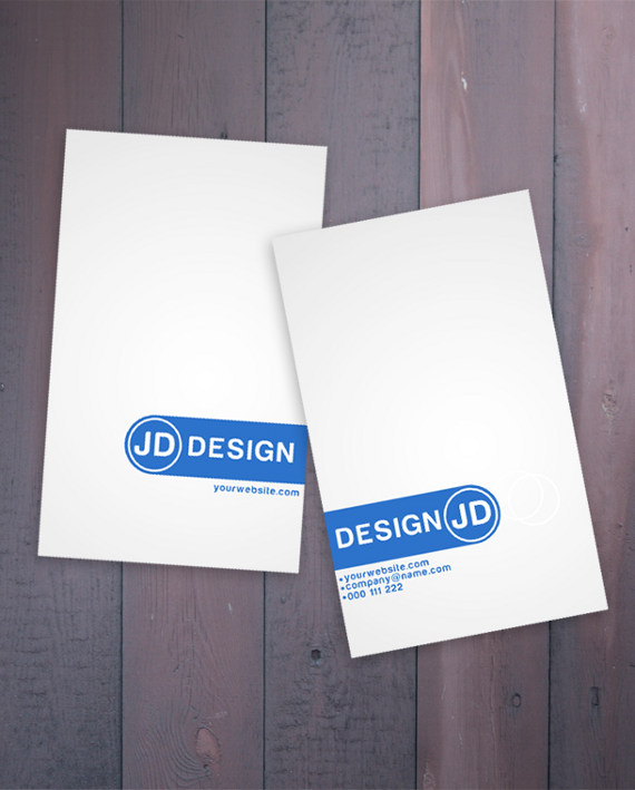 minimalistic business card 15+ Two Sided Business Card Templates