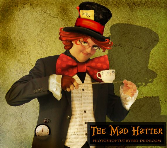 the mad hatter from alice in wonderland Photoshop Tutorials Roundup – January 2011