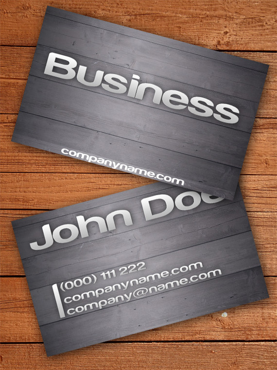 wooden business card 15+ Two Sided Business Card Templates