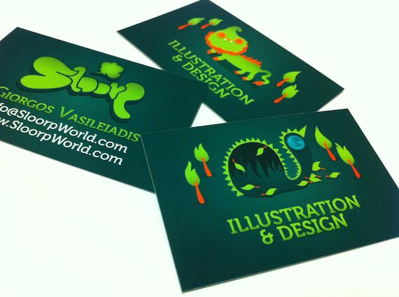 SloorpCardsS2 Artist of the Week   Giorgos Vasiliadis aka Sloorp Designs
