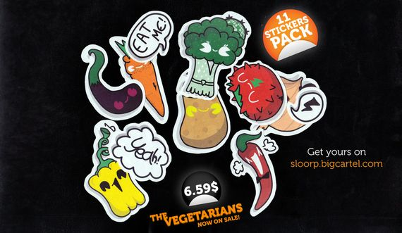 Sticker Pack  The Vegetarians by giorgos93 Artist of the Week   Giorgos Vasiliadis aka Sloorp Designs