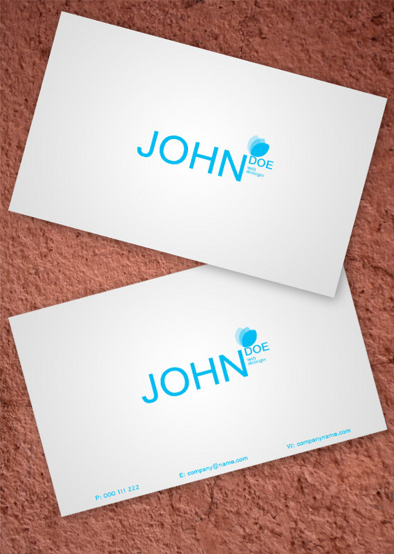 simple white business card 15+ Two Sided Business Card Templates