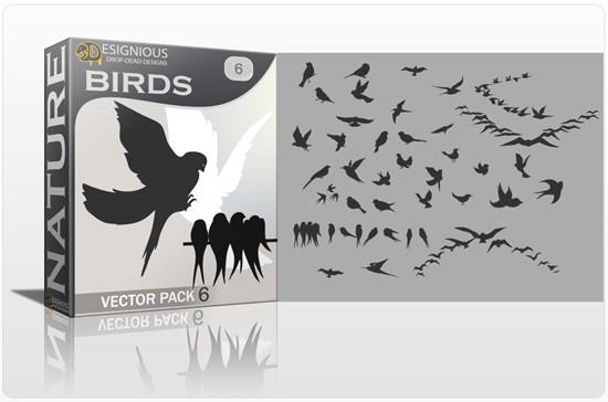 designious birds vector pack 6 preview 1 Fresh Vector Packs, PS Brushes and Freebies from Designious.com