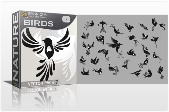 designious birds vector pack 7 preview 1 Fresh Vector Packs, PS Brushes and Freebies from Designious.com