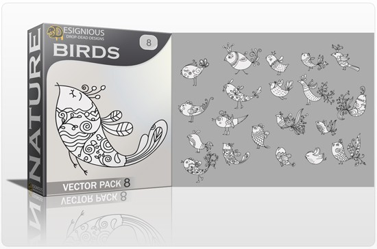 designious birds vector pack 8 preview 1 Fresh Vector Packs, PS Brushes and Freebies from Designious.com