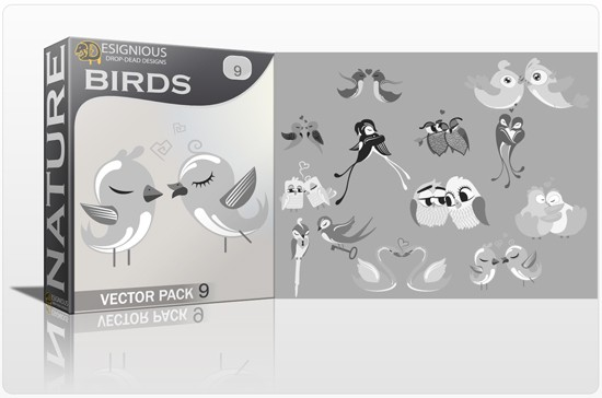 designious birds vector pack 9 preview 1 Fresh Vector Packs, PS Brushes and Freebies from Designious.com