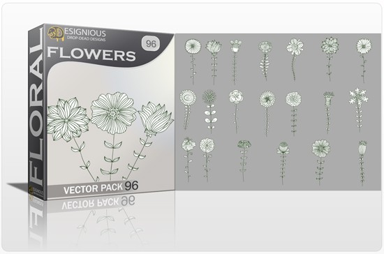 designious floral vector pack 96 preview 1 Fresh Vector Packs, PS Brushes and Freebies from Designious.com