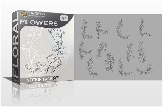 designious floral vector pack 97 preview 1 Fresh Vector Packs, PS Brushes and Freebies from Designious.com