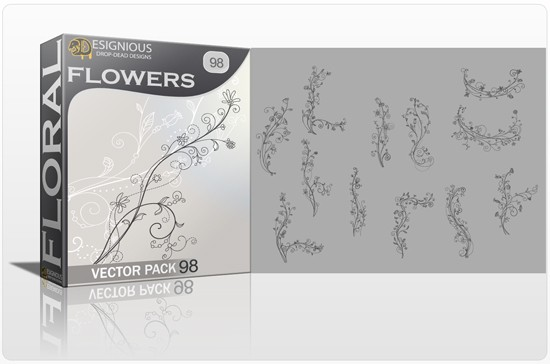 designious floral vector pack 98 preview 1 Fresh Vector Packs, PS Brushes and Freebies from Designious.com