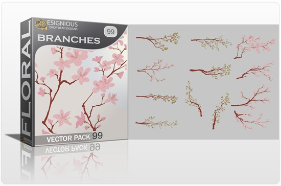 designious floral vector pack 99 preview 1 Fresh Vector Packs, PS Brushes and Freebies from Designious.com