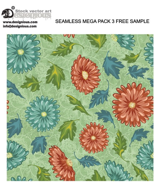 designious seamless patterns mega pack 3 free sample Download: Free Vector Pattern from Designious.com