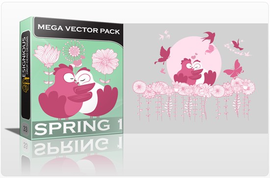 designious spring vector mega pack 1 preview 1 1 Fresh Vector Packs, PS Brushes and Freebies from Designious.com